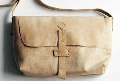 Handmade vintage rustic retro leather crossbody messenger Shoulder Bag for women