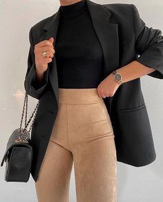 Outfits para mostrarles quién es la que manda Winter Fashion Outfits, Mode Outfits, Cute Casual Outfits, Look Fashion, Fall Outfits, Fashion Women, 70s Fashion, Korean Fashion, Fashion Online