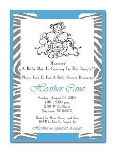 Roarrrrr Jungle Time Baby Shower Invitation (Boy) | Free Shipping