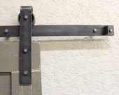 raw steel Sliding barn door hardware