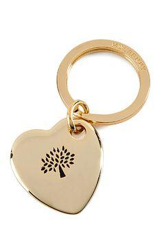 MULBERRY  Golden Metal-Enamel Heart Keychain