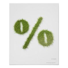 Customizable #Close#Up #Color#Image #Creativity #Finance #France #Math #Percentage#Sign #Square #Studio#Shot #Symbol Percentage symbol made of grass poster available WorldWide on http://bit.ly/2hkztuJ