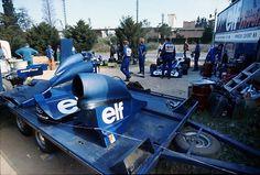 "timewastingmachine: "" Elf Team Tyrrell at Montjuic Circuit, 1973 Spanish Grand Prix """