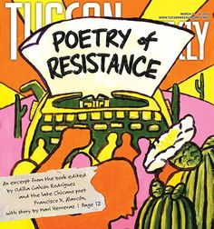 """Dr. Qwo-Li Driskill's poem """"Ceremony for Reclaiming Language"""" is featured in this excerpt from Poetry of Resistance: Voices for Social Justice published in the Tucson Weekly. March 10, 2016."""