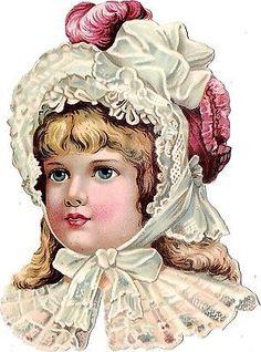 Victorian scrap- child in red hat Vintage Labels, Vintage Ephemera, Vintage Cards, Vintage Paper, Victorian Valentines, Victorian Christmas, Vintage Christmas, Victorian Pictures, Vintage Pictures