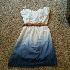 Maurices sun dress - ombre Cute, comfy, and only wore once for senior pictures. Maurices Dresses Strapless
