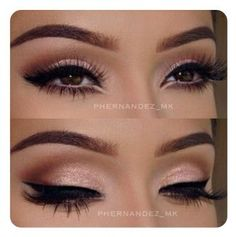 Eye makeup can easily complement your beauty and make you look and feel stunning. Find out the correct way to use make-up so that you can show off your eyes and impress. Learn the top tips for applying make-up to your eyes. Cat Eye Makeup, Skin Makeup, Prom Makeup Brown Eyes, Bride Eye Makeup, Romantic Eye Makeup, Sparkly Eye Makeup, Sexy Eye Makeup, Neutral Eye Makeup, Elegant Makeup