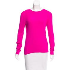 Pre-owned Michael Kors Ribbed Cashmere Sweater ($125) ❤ liked on Polyvore featuring tops, sweaters, pink, pink cashmere sweater, michael kors, cashmere crewneck sweater, pure cashmere sweaters and cashmere crew neck sweater