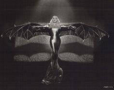 New capsule: Mae West dressed as a bat, 1934 (http://www.retronaut.com/2013/03/mae-west-in-bat-costume)