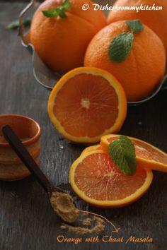 Orange with chaat masala