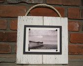 White Plank Frame with Rope for 4x6 Photo