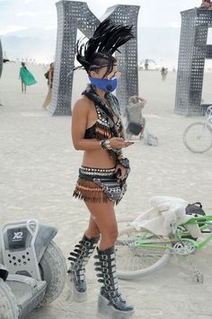 Many Burners express themselves through fashion. Here's one participant with a… …