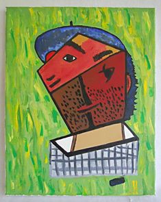 Outsider Abstract Painting Portrait Masonic Compass Eye Allegorical Cubist Ross  | eBay Cubist Paintings, Art Paintings For Sale, Vintage Paintings, List Of Artists, Outsider Art, Cubism, Compass, Folk Art, Abstract Art