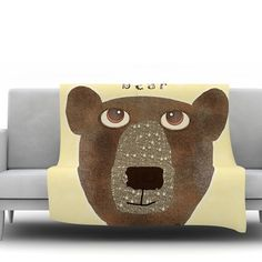 You'll love the Bear by Bri Buckley Fleece Throw Blanket at Wayfair.ca - Great Deals on all Bed & Bath  products with Free Shipping on most stuff, even the big stuff.
