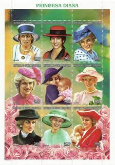 Princess Diana Postal Commemorative Sheet Issued By Equatorial Guinea, Diana - Princess Of Wales 1961 - 1997.