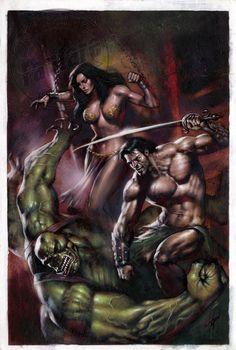 Lucio Parrillo Warlord of Mars (Dynamite) #1, Cover Comic Art