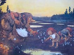 Emma Hill: Troll Illustrations by Rolf Lidberg. - We saw the cotton grass when we were in Svalbard just north of Norway.