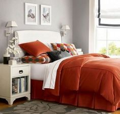 Find This Pin And More On Decoraci N De Interiores Fabulous Orange Bedroom Decorating Ideas