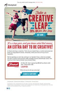 iStockphoto email design