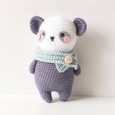 Crochet pattern Panda Bear Amigurumi, design Sweetamigurumidesign