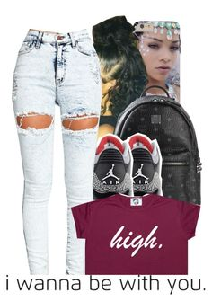 """Untitled #633"" by trillestqueen ❤ liked on Polyvore featuring MCM"