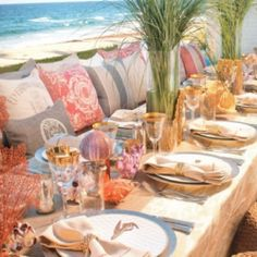 A chic palm beach themed wedding inspiration board (image via Poise)