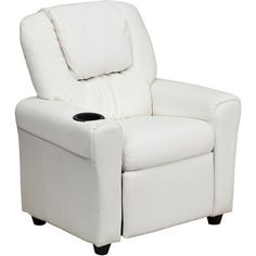 Flash Furniture Contemporary White Vinyl Kids Recliner with Cup Holder and Headrest at Lowe's. Don't forget about the kiddos, fur babies included, when looking for lounge seating for the little one in your home. Young kids will enjoy the comfort
