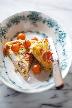 Cherry Tomato, Prosciutto and Ricotta Frittata