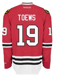 the latest 25587 04aba Chicago Blackhawks Mens Jonathan Toews Premier Home Jersey with AUTHENTIC  TACKLE-TWILL LETTERING
