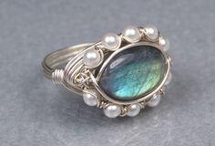 Labradorit 925er Silber Ring  ovale Edelstein und