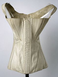 CorsetCorset Date: 1840s Culture: American Medium: cotton Dimensions: [no dimensions available] Credit Line: Gift of Mrs. Albert S. Morrow, 1937 Accession Number: C.I.37.45.93