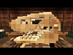 Tutorial: Minecraft Dinosaur T-Rex Skull Minecraft Museum, Minecraft Villa, Minecraft Building Blueprints, Minecraft City Buildings, Minecraft Statues, Minecraft Mansion, Minecraft Images, Minecraft Structures, Cute Minecraft Houses