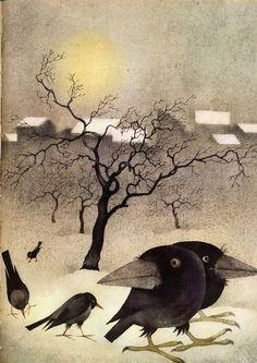Art And Illustration, Quoth The Raven, Crow Art, Raven Art, Crows Ravens, Pics Art, Wicca, Illustrators, Folk Art