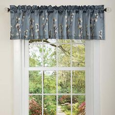 Lush Decor 18-Inch by 84-Inch Cocoa Flower Valance, Blue ** More info could be found at the image url. (This is an affiliate link) #WindowTreatments