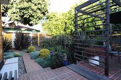idea for trellis on back yard side fence