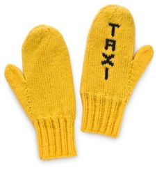Mellow Yellow, Black N Yellow, Mitten Gloves, Mittens, New York Taxi, Ny Style, Visiting Nyc, Yellow Fashion, Lady In Red