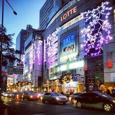 Myeongdong, Seoul. #citylights #nocturnal #korea
