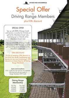 Driving Range offer for lovers of golf #uffordpark #golf http://www.uffordpark.co.uk/en/golf
