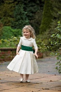 69156816524 Amelia Brennan - Silk flower girl dress with peter pan collar Silk  Bridesmaid Dresses