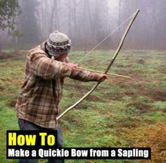 How to Make a Quickie Bow from a Sapling - SHTF, Emergency Preparedness, Survival Prepping, Homesteading