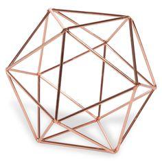 Draadbol in verkoperd metaal D 12 cm COPPER