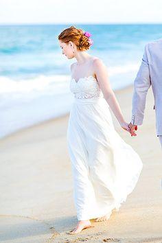 Beach wedding photography ideas.