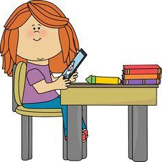 free clip art boy sitting at school desk with a tablet rh pinterest com school desk clipart black and white old school desk clipart