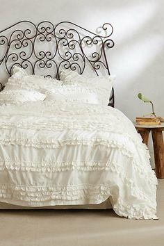 New Anthropologie Nightingale Twin White Ruffles Duvet Cover Gorgeous NIP Home Bedroom, Bedroom Decor, Master Bedroom, Boudoir, Duvet Bedding, King Duvet, Cotton Bedding, Queen Duvet, Bedding Sets