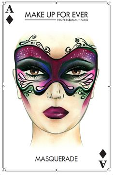 Make Up For Ever Halloween Inspiration Face Charts and Boutique Makeup Application Offer