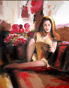 WOMAN READING by bookoffstudios on Easy  Repinned by www.elleryadamsmysteries.com