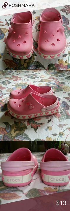Cute kids Disney mini mouse Pink crocs Cute pink mini mouse crics CROCS Shoes Sandals & Flip Flops