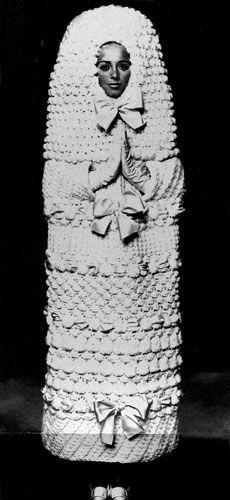 yves saint-laurent bridal fashion, 1965