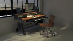 Hure Recording Studio Keyboard Desk – Vintage Industrial Furniture