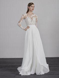 3efe6dade0f5 νυφικό-σιφόν-ίσια-γραμμή-ESPECIAL Bohemian Wedding Dresses